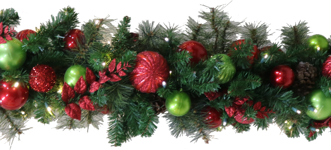 Jolly Decorated Garland
