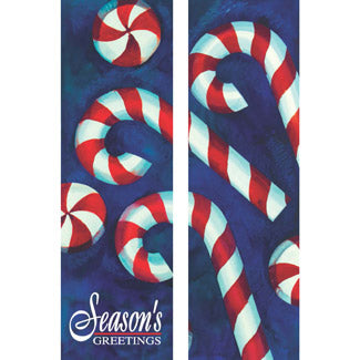 Giant Candy Cane Double Banner