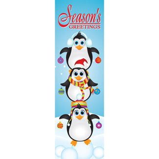 Penguins Christmas Banner