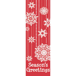 Snowflake Stripes Banner