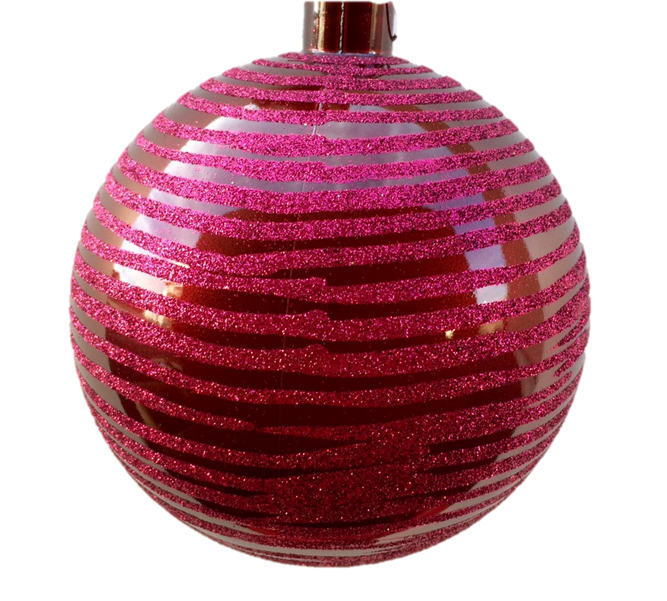Brushed Glitter Stripe Ornaments