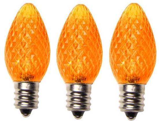 Yellow LED Bulb C7 Size