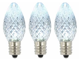 Cool White LED Bulb C7 Size