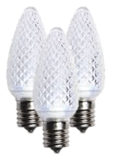 C9 Cool White LED Bulbs