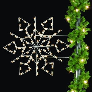 Diamond Snowflake - 5' LED Light Pole Decoration