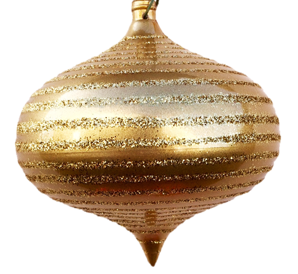 Onion with Glitter Stripe Ornaments