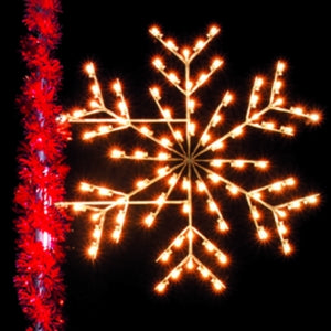 Deluxe Ice Snowflake 3' LED Light Pole Decoration