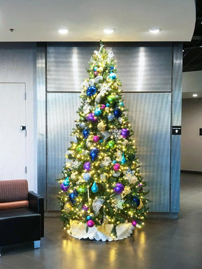 Jewel Tone Decor Christmas Tree Package 7.5FT-15FT Sizes