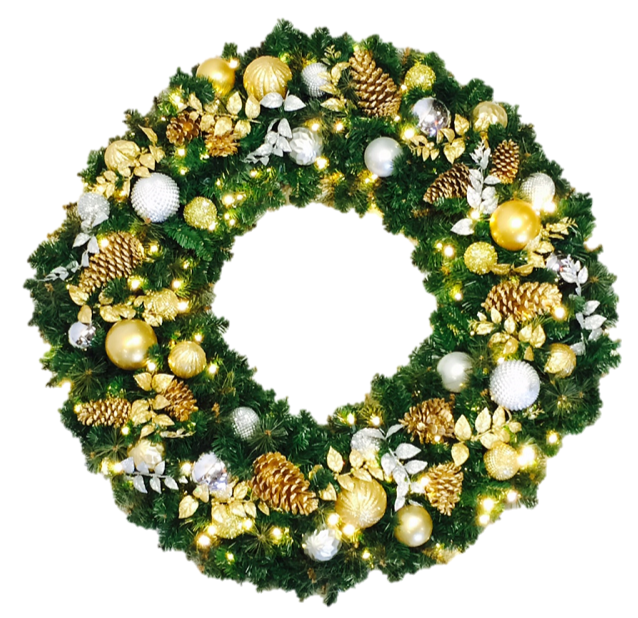 Wreath - Lavish Decor - No Bow