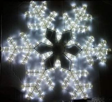"LED Cool White 24"" Snowflake Rope Light Silhouette"