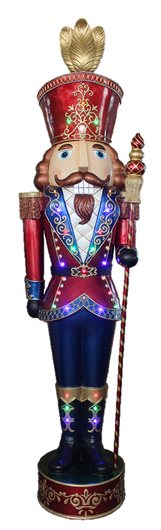 "92"" Jeweled Nutcracker - LED"