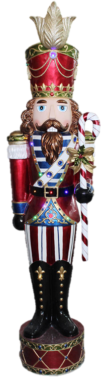 "75.5""H Jeweled Nutcracker - LED"