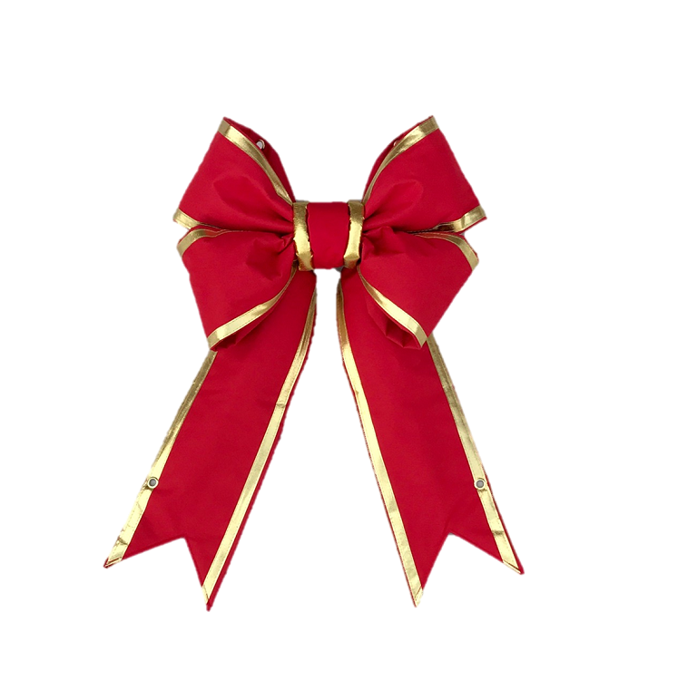 Red Structural Bow with Gold Trim