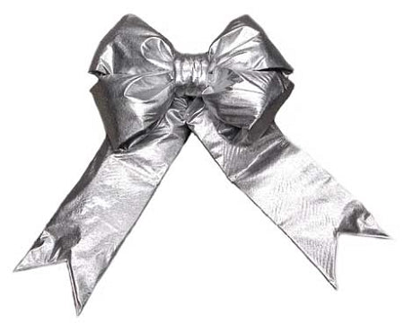 Silver Metallic Structural Bow
