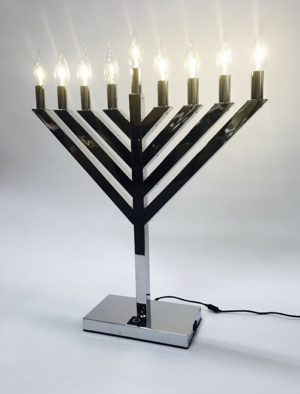 "Menorah, Lighted 18"" & 24"""