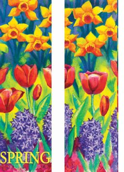 Spring Flowers Double Banner