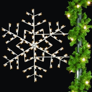 Star Snowflake Light Pole Decoration