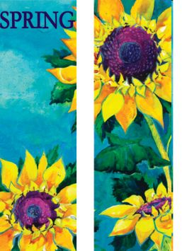 Sunflowers Double Banner