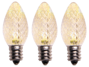 Warm White LED Bulb C7 Size
