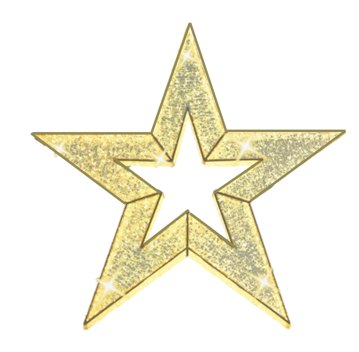 Illuminated 3D Star