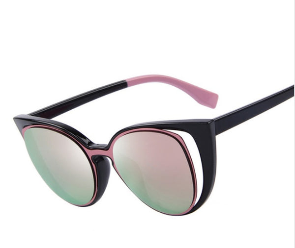 Unique Pierced Design Cat Eye Sunglasses - 9 Colours!