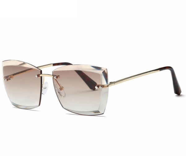New Rimless Diamond Cut Lens Sunglasses - 5 Colours!