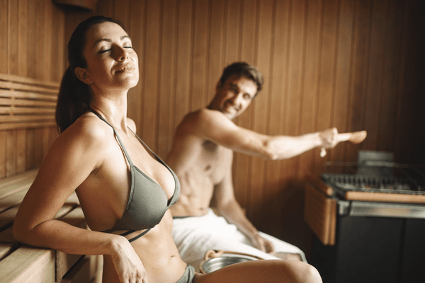 Cool down before your sauna