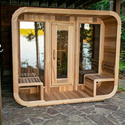 dundalk luna outdoor sauna with porch