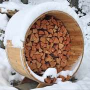 Barrel firewood storage upgrade