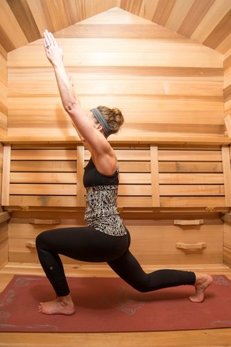 Hot yoga training sauna available online at Divine Saunas