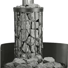 The Harvia Legend Chimney acts as a heat guard and gives you more heat reserve and steam!