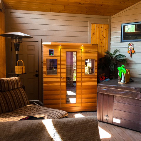 Infrared Sauna Located in Living Room