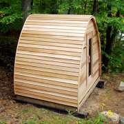 clear wood upgrade for dundalk pod sauna