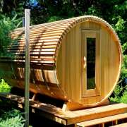dundalk barrel sauna 7x8 changeroom EPDM rubber roof