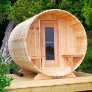dundalk barrel sauna 7x8 knotty