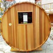 dundalk barrel sauna backwall window