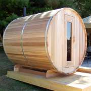 dundalk barrel sauna clear wood4