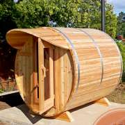 dundalk barrel sauna knotty wood cove