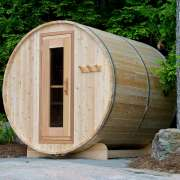 dundalk barrel sauna knotty wood3