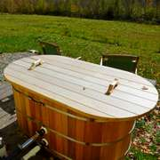 dundalk cedar hot tubs steps teak cover