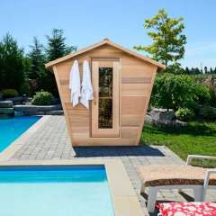 Dundalk Leisure Craft Eagle's Nest sauna available online at Divine Saunas
