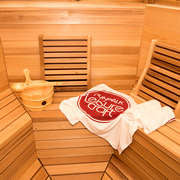 dundalk kota sauna clear wood bevel benches