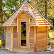 dundalk kota sauna clear wood bevel roof