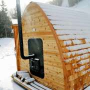dundalk outside feed wood burning heater upgrade for dundalk pod sauna