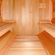 dundalk sauna flat floor clear wood2