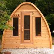 dundalk sauna knotty wood with front windows