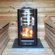 harvia woodburning heater glass door upgrade for dundalk pod sauna