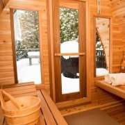 natural light with front windows upgrade for dundalk pod sauna
