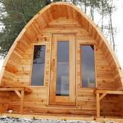 pod sauna solid tight knot cedar