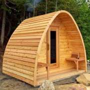 porch knotty wood sides upgrade for dundalk pod sauna